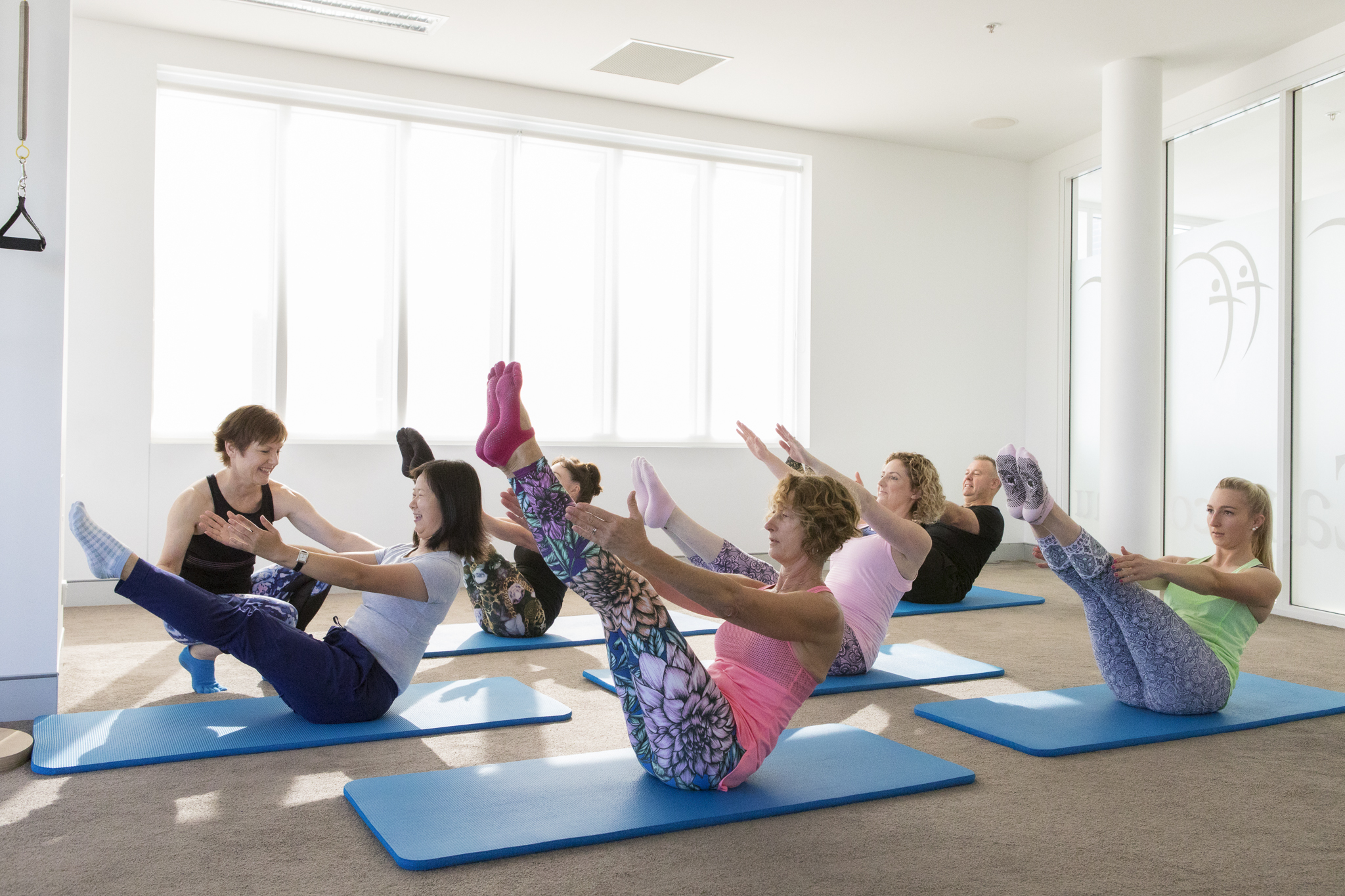 mat pilates with pilates business owner claire